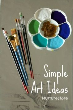 Simple art ideas for preschool, toddlers and kids :: painting on foil