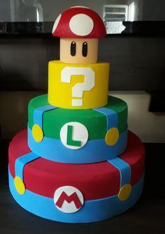 Mario Birthday Cake, Sonic Birthday Parties, Boys First Birthday Party Ideas, Super Mario Birthday, Bolo Do Mario, Bolo Super Mario, Mario Bros Cake, Bolo Fack, Mario E Luigi