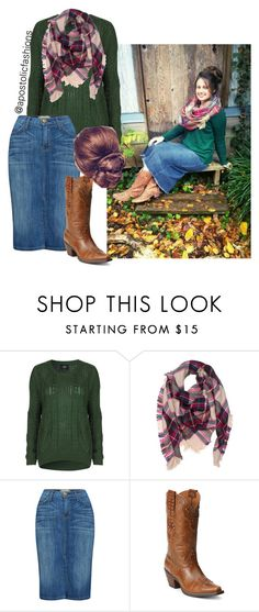 """Apostolic Fashions #963"" by apostolicfashions on Polyvore featuring Goldie, Current/Elliott and Ariat"