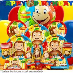 Deluxe Curious George Birthday Box - Curious George Party Pack