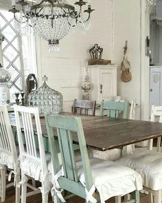 My dream kitchen. Scandinavian Style Home, Scandi Home, Shabby Chic Dining Room, Shabby Chic Decor, Farmhouse Homes, French Farmhouse, French Country, Farmhouse Style, Dere