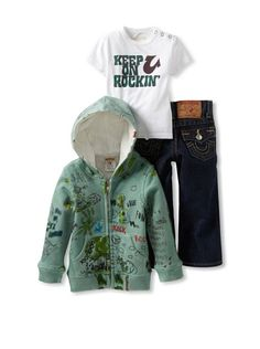 True Religion for Baby Girls | True Religion Baby-Boys Infant 3 Piece Box Set, Evergreen, 12-18 ...