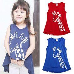 Baby Kids Girls Giraffe Deer Sleeveless Tops T-Shirt Summer Dress Skirts 2-7Y in Clothes, Shoes & Accessories, Kids' Clothes, Shoes & Accs., Girls' Clothing (2-16 Years) | eBay