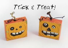 DIY Halloween : Fun DIY Halloween pumpkin magnets.