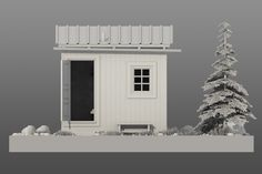 Personal work based on the Hermit Cabin by architect Mats Theselius