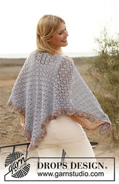 Ravelry: 137-29 Tranquility - Shawl in BabyAlpaca Silk pattern by DROPS design