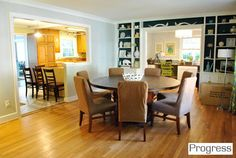 """Not only do I love the colors, but the lay out! Very open! It almost looks like the """"formal"""" dining areas was turned into an office area!"""