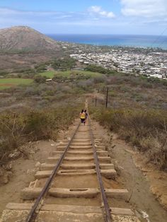 Going down the tram-rail on Kokohead