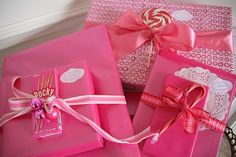 Pink presents!!! Bebe'!!! Delightfully pink!!!