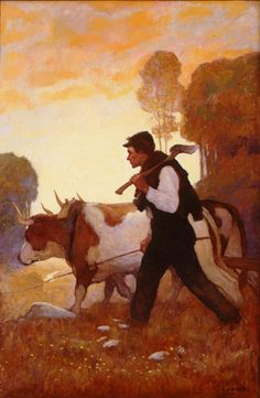 Wyeth Popular Magazine, cover illustration 1911 Oil on canvas, 36 x 24 in. x cm) Magazine Illustration, Illustration Art, Nc Wyeth, Andrew Wyeth, Art Graphique, Types Of Art, Beautiful Paintings, American Artists, Art World