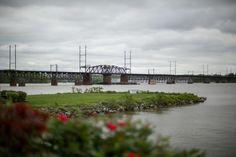 La Banque at the Seaplane Base Wedding - Havre de Grace Weddings Grand view of the historic railroad bridge.