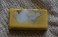 "Hand-made soap ""Sunshine tenderness"". Composition: soap base (England), sea buckthorn oil, cumin oil, hipericum oil, essential oils of verbena, lavender, rosemary, juniper. 118 g"