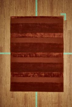 "5' 3"" x 7' 7"" Red Orange Striped Contemporary Handloom Area Rug Modern"