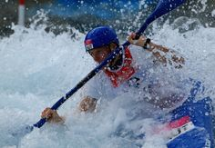 Corinna Kuhnle of Austraia competes during the Womens Kayak Single (K1) Slalom heats on Day 3 of the London 2012 Olympic Games at Lee Valley White Water Centre on July 30, 2012 in London, England. (Photo by Phil Walter/Getty Images)