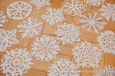 Snehové vločky z papiera | Neposedné nožnice
