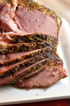 Easy Slow Cooker Cider Ham Recipe : this recipe turns out so tender and delicious.  Perfect for having company over or for a Sunday night family dinner.  Just set the ham in your slow cooker with your ingredients and it's done and ready to eat in a matter of hours!