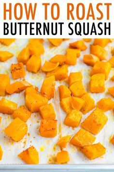 Here's the best way to cut and roast butternut squash. Roasted butternut squash makes a great side dish on it's own, but can also be used in other recipes! Healthy Thanksgiving Recipes, Good Healthy Recipes, Healthy Meal Prep, Veggie Recipes, Keto Recipes, Dinner Recipes, Butternut Squash Nutrition, Healthy Weeknight Dinners, Sweet Spice