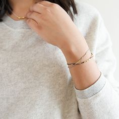 These dainty silk cord bracelets are perfect for stacking or sharing with your best friend! www.mooreaseal.com