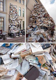 Escultura de Livros – por Alicia Martin