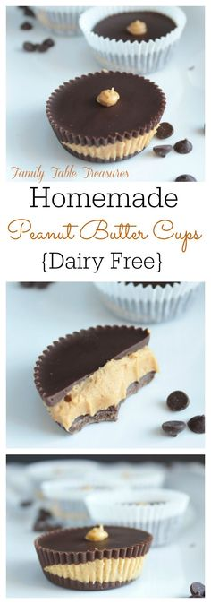 These Homemade Peanut Butter Cups are a healthier spin on everyone's favorite peanut buttery sweet treat.  Made with all natural peanut butter and {Dairy Free} and Gluten Free too! You never realize how much you love something until you can't eat it anymore! There are so many things that my daughter loves that contain dairy and …