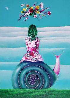 나쁜꽃밭 Bad a Flower Garden Earth Drawings, Arte Floral, Naive Art, Figure Drawing, My Favorite Color, Flower Art, Illustration Art, Illustrations, Little Girls