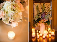 Candle light adds great ambiance to a reception