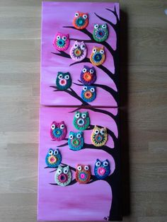 Owls on canvas. Inspiratie on Pinterest. Thanx