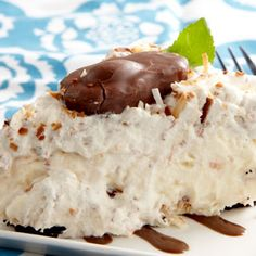 Mounds of Joy Whipped Pie; I have made this and let me say yum, yum, yum, if you like coconut this pie is for you. Easy too!!