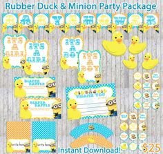 239 best minions baby shower ideas images on pinterest ideas rubber duck minion inspired baby shower party by rockinrompers 2500 filmwisefo