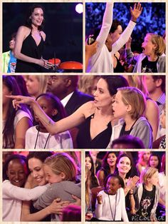 Angelina Jolie shared an adorable mother-daughter moment with Shiloh and Zahara when the actress won a Kids' Choice Award for Best Villain for her role in Maleficent. When their mum was announced as the winner of the Villain category, Zahara, 10, and eight-year-old Shiloh were clearly overjoyed, wrapping their arms around Angelina's neck for a joint hug.  Angelina looked just as delighted by the win as sharing the moment with her girls, beaming happily and hugging them back, before making…