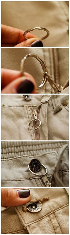 How to Stop a Zipper from Unzipping Itself