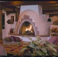 Kiva fireplaces are my favorite Southwest Decor, Southwestern Decorating, Southwest Style, Adobe Fireplace, Fireplace Gallery, Adobe Homes, Courtyard Landscaping, Normal House, Hearths