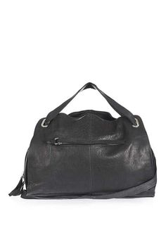 Leather Zip Holdall Bag