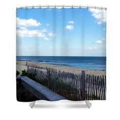 #Jersey #Shore #Shower #Curtain by Judi Saunders