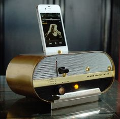 ipod iphone charging station with speakers from by Relectronics, $165.00