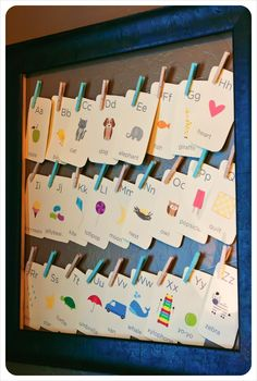 very sweet way to show the abc's
