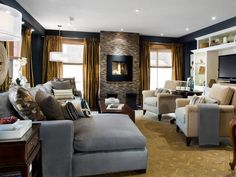 Image result for gray living room fireplace