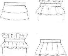 Flat Sketch Box Pleats