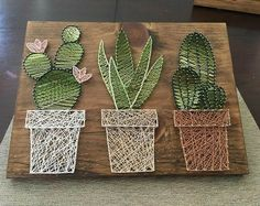 Cactus jardin string art suculent string srt dcoration rustique murale art rustique succulentes cactus murale dcor cactus dombre easy and fun diy christmas crafts for you and your kids to have fun Adult Crafts, Fun Crafts, Diy And Crafts, Arts And Crafts, Art Adulte, Art Mural Rustique, String Art Diy, Anchor String Art, String Crafts