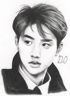 Exo Kyungsoo .:Fan Art:. by FallThruStardust on deviantART