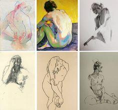 Adara Sánchez Anguiano / 2. Jen Joaquin / 3. Karen Darling / 4. Kathe Kollwitz / 5. Egon Schiele / 6. Aaron Coberly