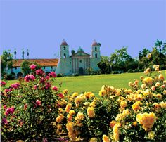 The Mission Rose Garden - perfect spot to picnic, play bocce ball and sip wine! (Mission Santa Barbara)