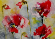 Red Poppies 2 - Original now for sale at Ugallery