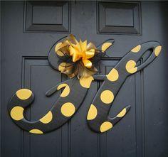 Southern Miss Wooden Letter H Door Hanger on Etsy - USM
