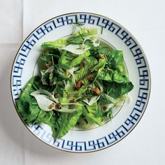 Vibrant greens, handfuls of fresh herbs, nuts for crunch, and horseradish for bite. Ingredients are suggestions; feel free to mix it up.