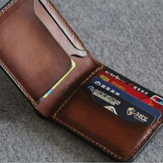 Genuine Leather wallet simple style purseMen's by FocusmanLeather