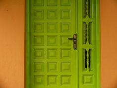 Lovely green door Avenida de Valladolid, Madrid.