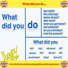 what did you do sentences - learning English