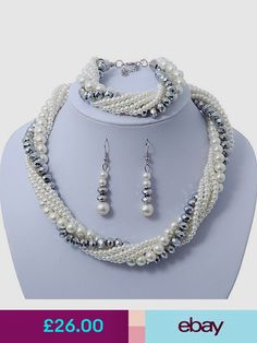 Avalaya Mixed Piece Jewelry Sets Schmuck & Uhren - New Ideas Bottle Jewelry, Diy Jewelry Necklace, Bead Jewellery, Necklace Types, Necklace Designs, Pearl Jewelry, Jewelry Sets, Bridal Jewelry, Beaded Jewelry