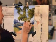 Pastel Painting Time-Lapse - Grassy Field, Tree, Path - Bethany Fields